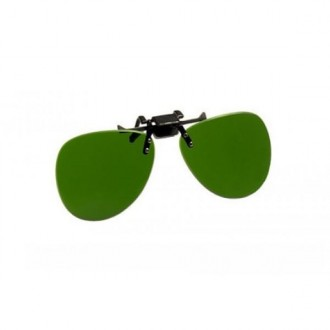 PlasmaSAFE Shade 8 Green Clip-on Safety Glasses