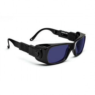 PlasmaSAFE Shade 5 Large Cobalt Blue Safety Glasses